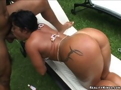 Monica: Drop all the game you have! This is the most beautiful Brazilian ass! Monica Santhiago..