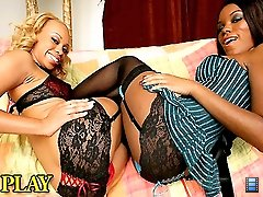 Nicole and her friend get double pleasured in these hot ebony black ass pounding vids