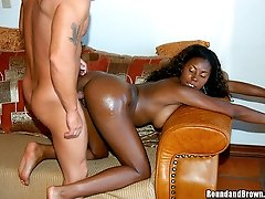 Bad ass ebony babe with an awsome ass gets banged by her white man