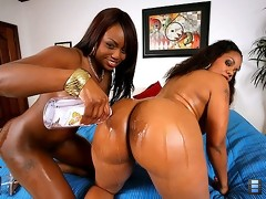 Extreme ass duo amanda and her bubblebutt bottoms doubleteam a mega hog in these slammin vids