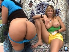 Ass Parade: We brought in two amazing Latin mommies by the name of Gisselle and Jazmyne.