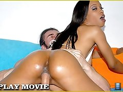 Hot round and brown babe coco gets her muff eat and fuked in these vids